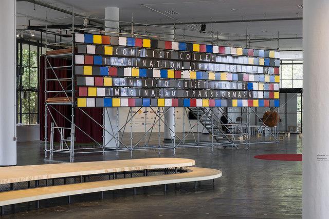 """Bik Van der Pol, """"Turning aBlind Eye"""", Biennale São Paulo, 2014, fot.Leo Eloy"""