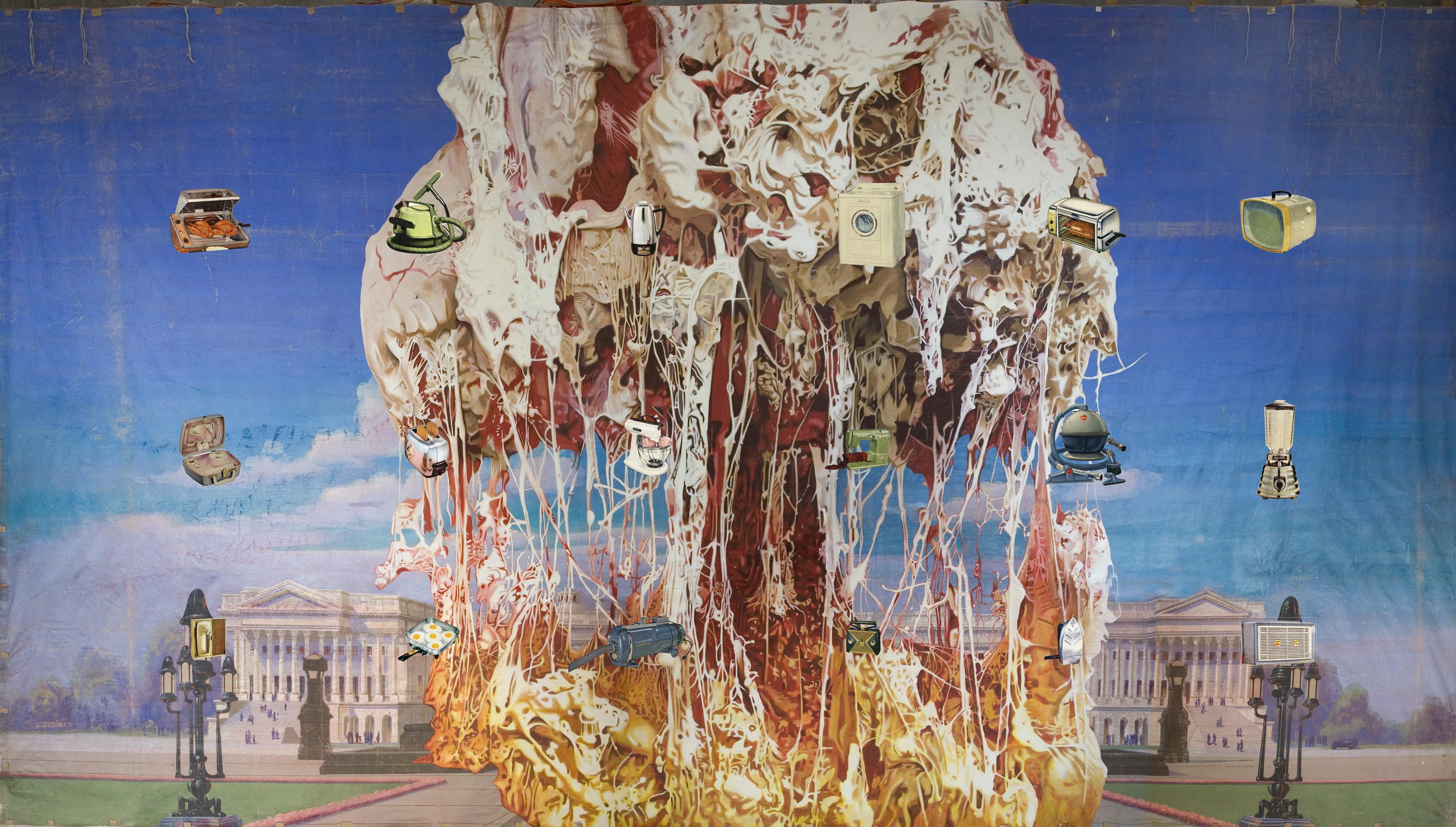 Jim Shaw, Capitol Viscera Appliances, 2011. Dzięki uprzejmości artysty orazSimon Lee Gallery