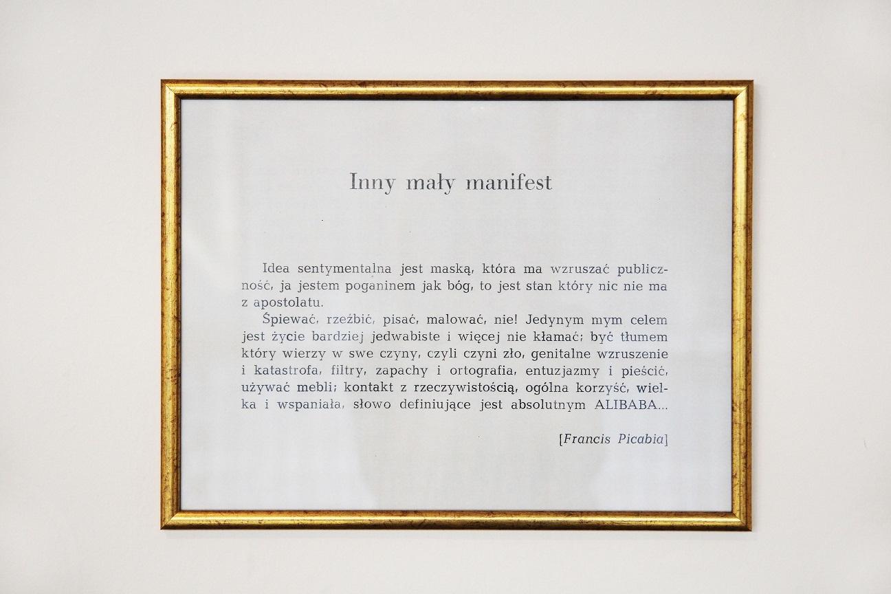 """""""Inny mały manifest"""", Francis Picabia"""