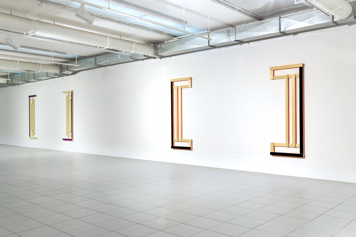 Jeanine Cohen, OPEN STRUCTURE N° 3 (yellow reflection), 2013 - OPEN STRUCTURE N° 2  (pink reflection), 2013,