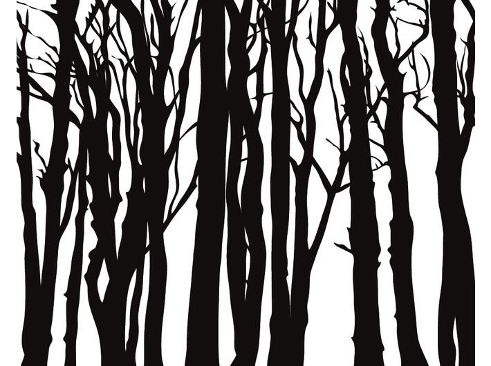 Julian Opie, Dębowy las, 2014, winyl naścianie, unikat, dzięki uprzejmości artysty