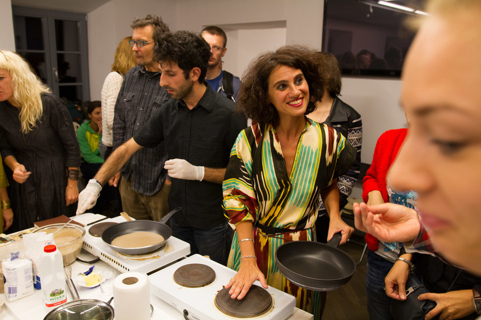 Nini Palavandishvili & Data Chigholashvili  GeoAIR_projekt Międzynarodowa noc jedzenia