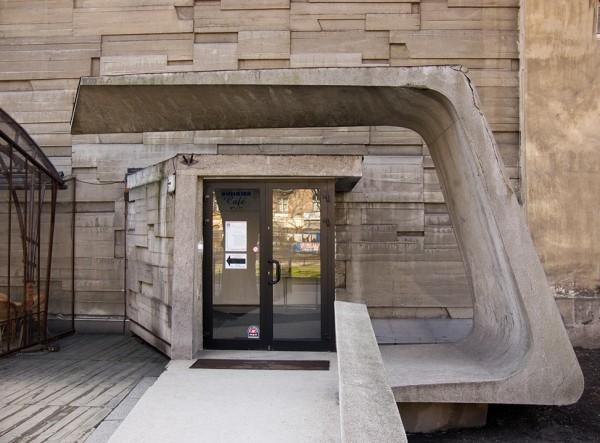 Bunkier Sztuki, wejście