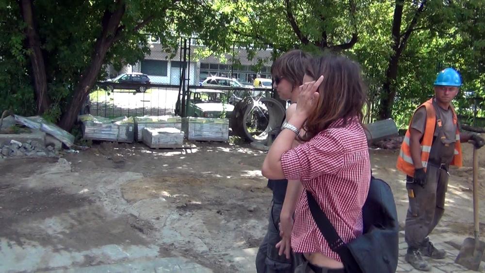 """""""Parkour d'amour I"""", 2011, Miłosny Performance: """"Miłość wcieniu tragedii"""", Aleka Polis"""