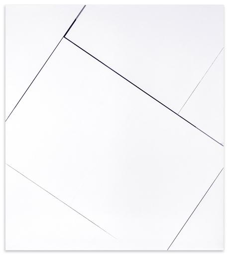 Natalia Załuska, beztytułu, 2014, technika mieszana, kolaż napłótnie, 180 × 160 cm