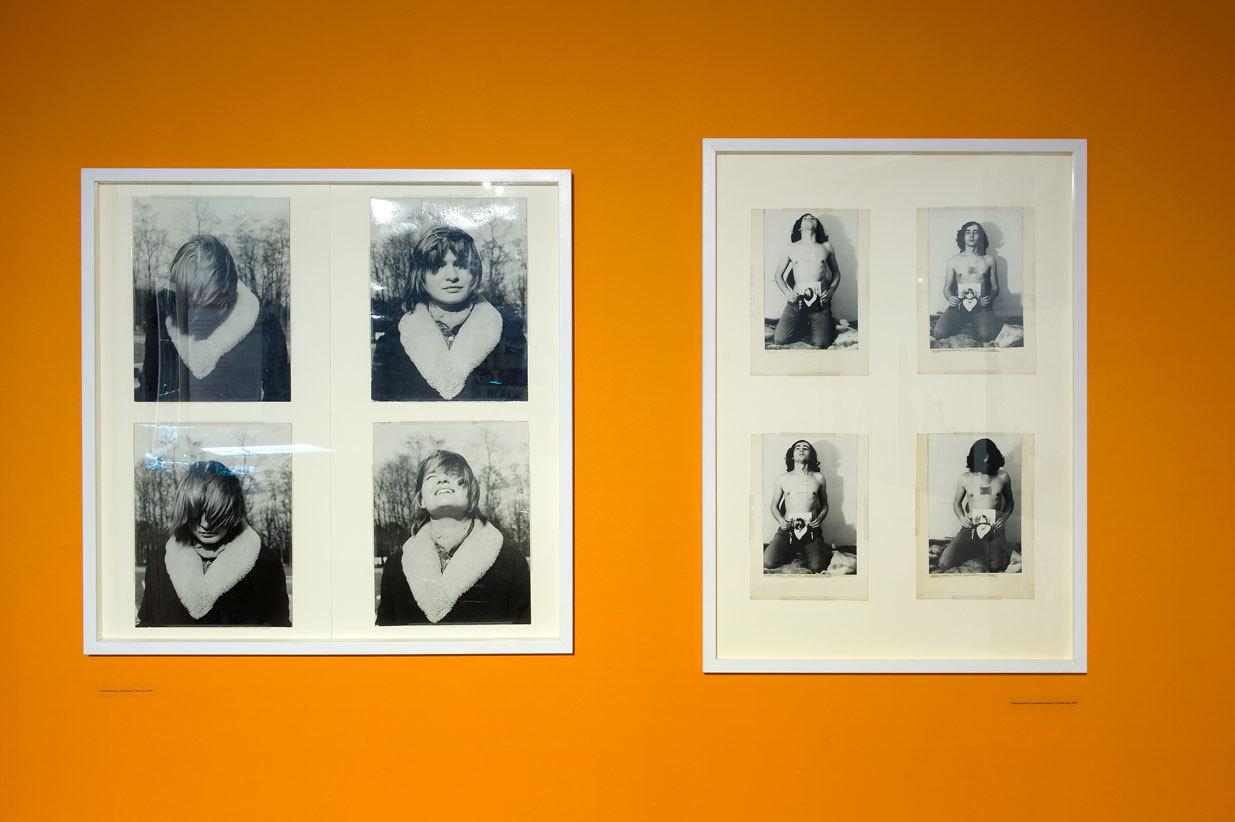 """odlewej: Romuald Kutera """"Spojrzenie"""", 1972; Romuald Kutera """"Spojrzenie podwójne"""", 1972"""