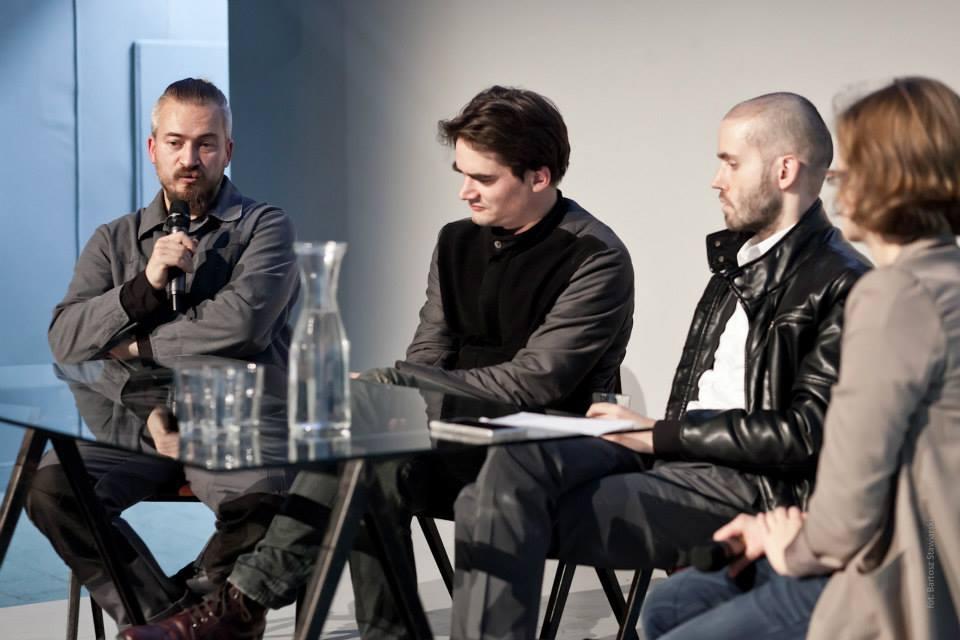 """Dyskusja """"Artysta pracujący?"""", MSN, odlewej: Robert Kuśmirowski, Franciszek Orłowski, Norman Leto"""
