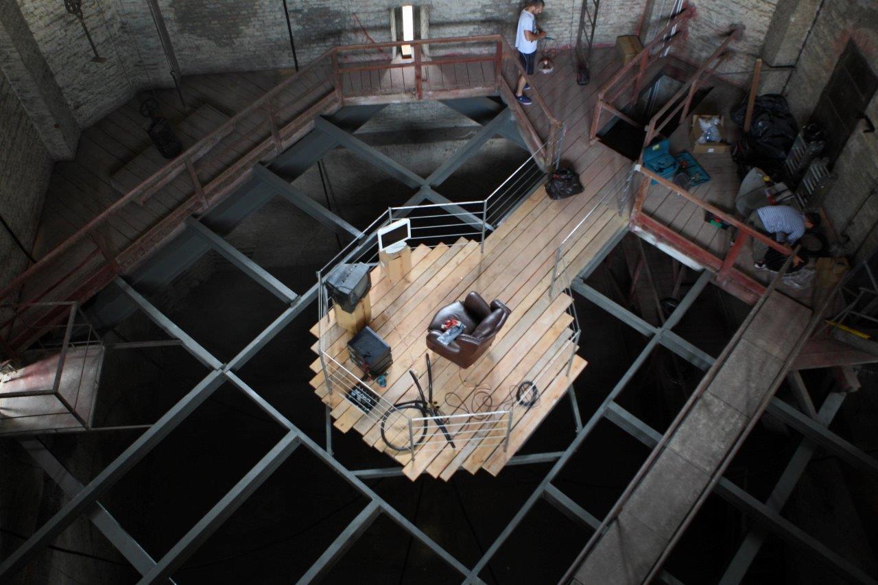 Instalacja dźwiękowa SENSORIUM Rafała Zapały wCK ZAMEK, 2014