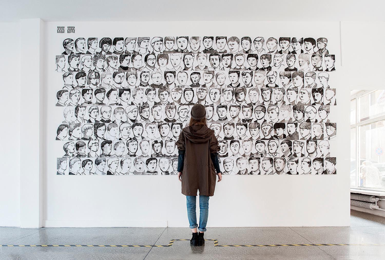 """Zuzanna Golińska, """"Chórzyści"""", 2014, fot.Gdańska Galeria Miejska"""
