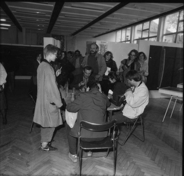 II Biennale Sztuki Nowej, Zielona Góra, 1987, fot.Leszek Krutulski