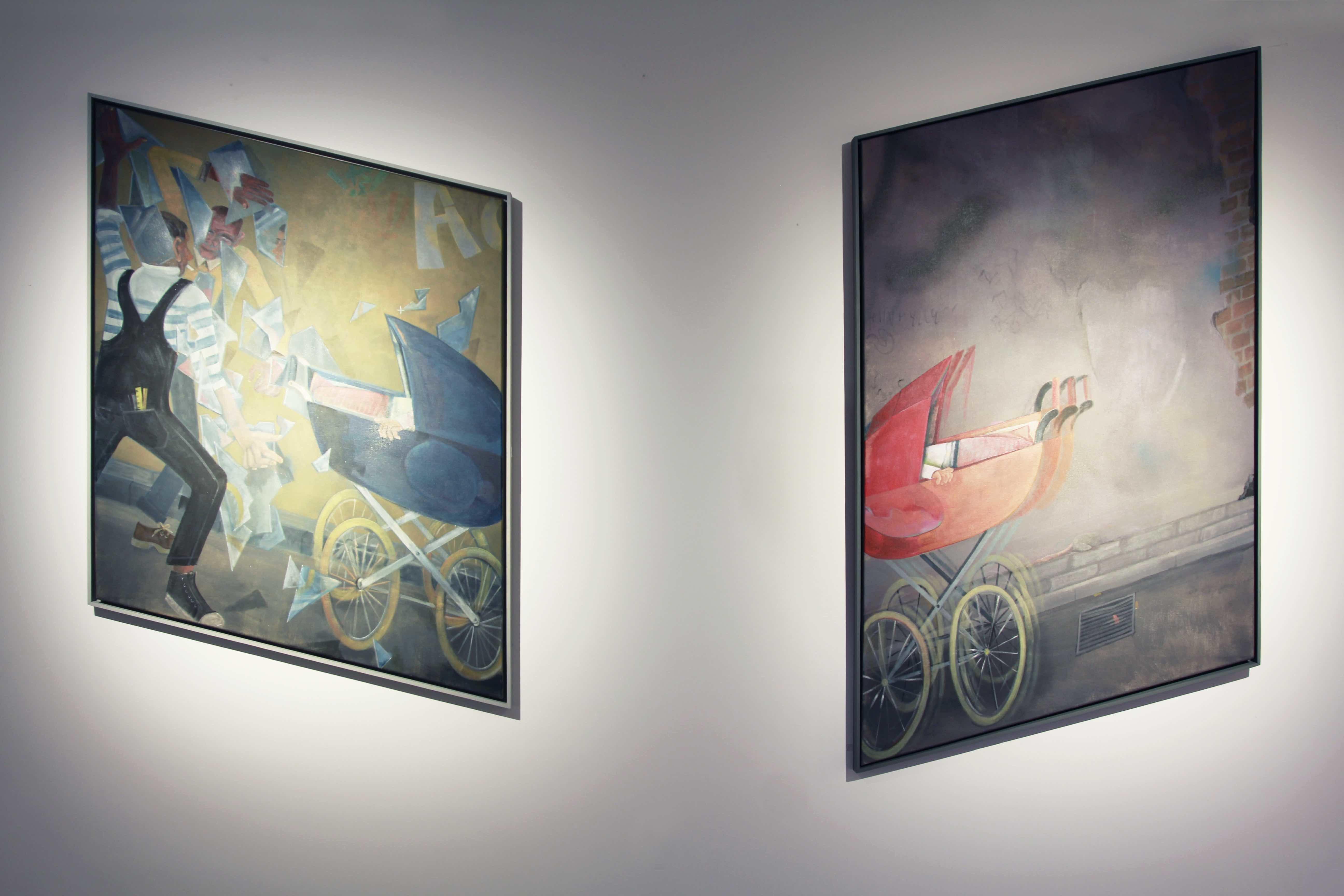 Tomek Kowalski, Untitled (Baby), olej napłótnie, 2013