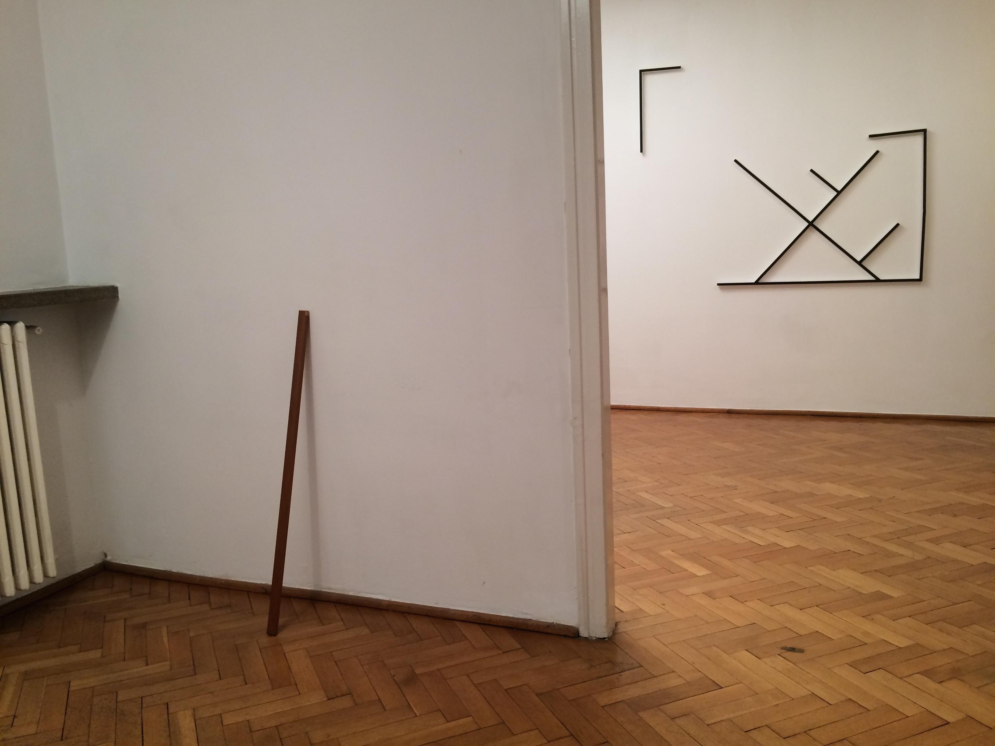 Tomek Baran, beztytułu, 2010; Stefan Burger, Autoportret jako fałszywy  metr, 2006