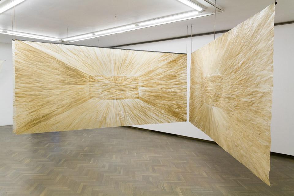 Iza Tarasewicz, At The Junction Of Clarification / Nastyku sprecyzowania, 2014, włókno konopne, plastic