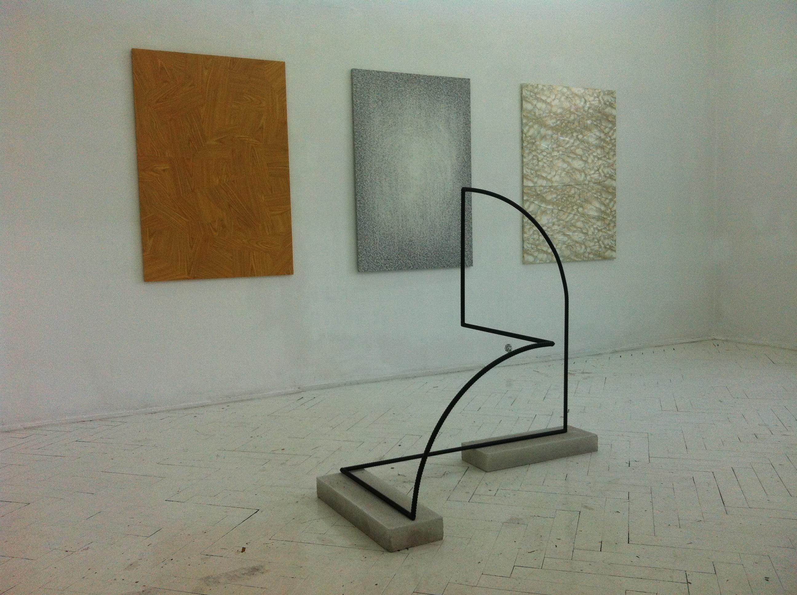 Szymon Szewczyk, widok wystawy Możliwe rozwiązania, Art Agenda Nova