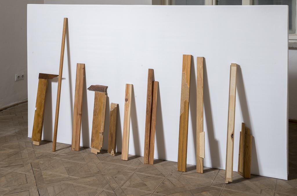 Jan Mioduszewski, Deski, listwy, 2014 (2004), olej nadrewnie ipłycie mdf