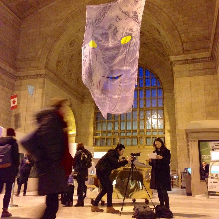 Praca szwajcarskiego artysty Reto Puffera naUnion Station wToronto
