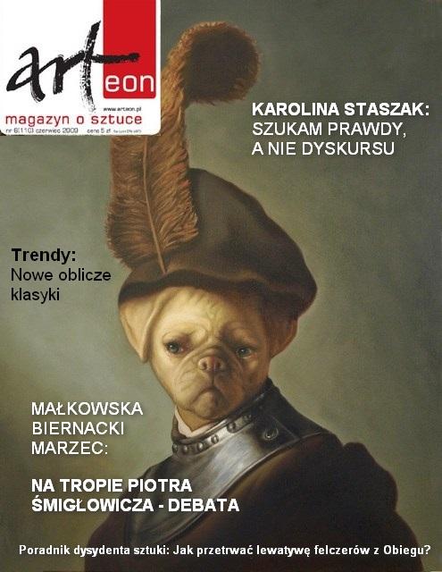 Na okładce: Tomasz Poznysz, Apug in military costume, 2014