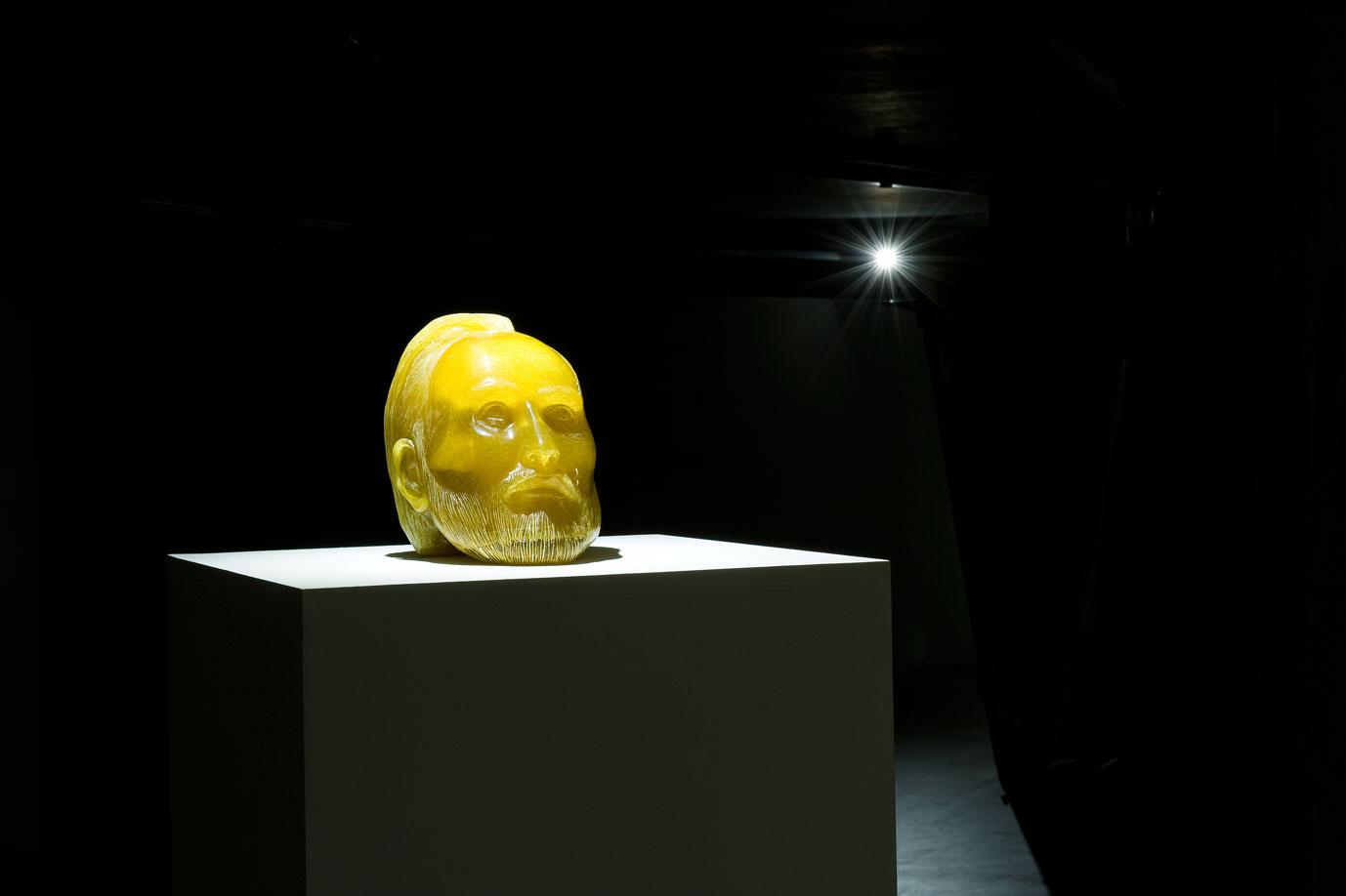 """Szymon Kobylarz, Henryk Pobożny"""", 2014, rzeźba, technika mieszana, fot.M. Kujda"""