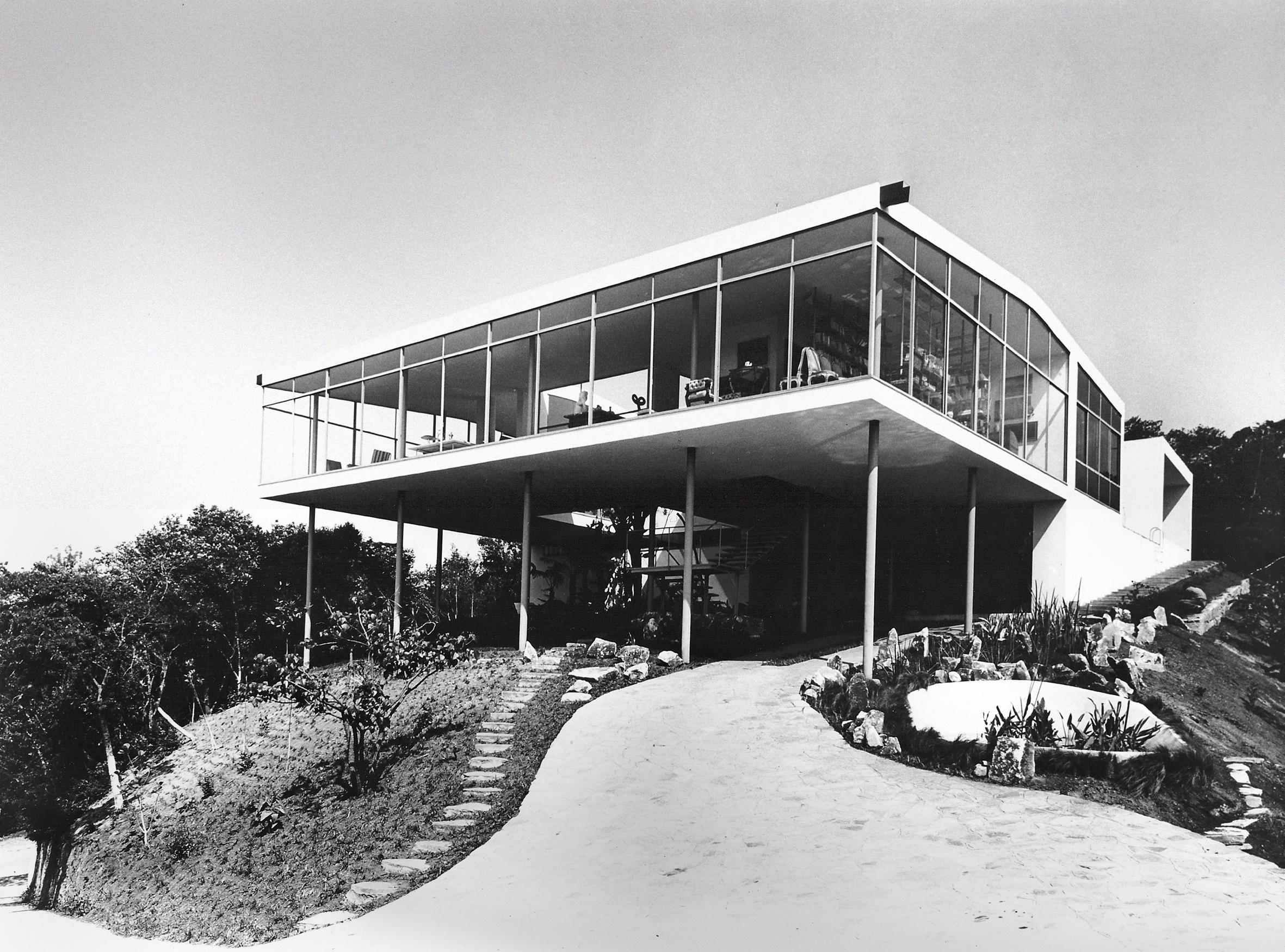 Casa de Vidro, São Paulo, 1949-1951, fot.Peter Scheier, 1951
