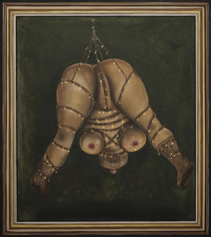 Jakub Julian Ziółkowski, 75 Obsesja Banausa, 2014, 83 × 74 cm, olej napłótnie