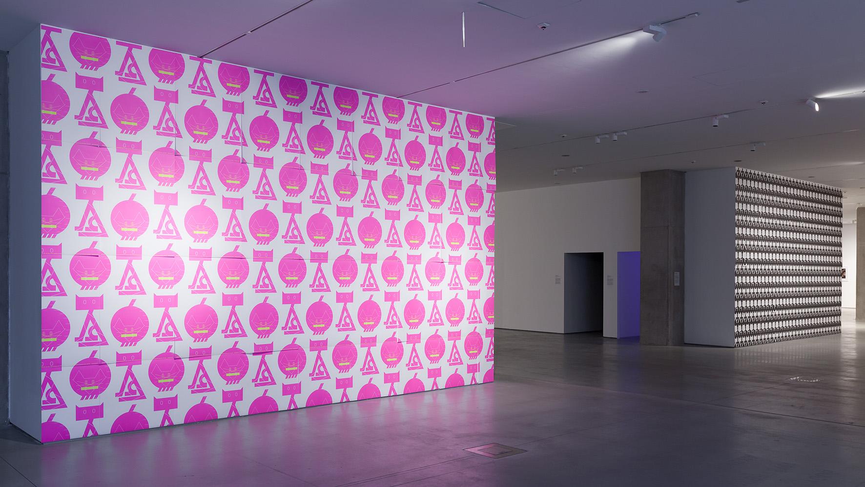 Kazunari Hattori, Tapeta, 2014, druk offsetowy, 103 × 72,8 cm każdy, własność artysty, © Kazunari Hattori