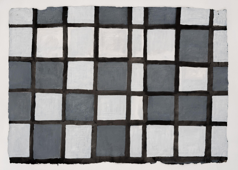 Koji Kamoji, Rysunek 54, 2014, tusz chiński, papier, akryl, 63x87cm