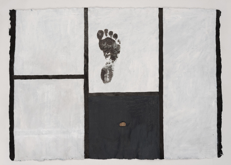 Koji Kamoji, Rysunek 61, tusz chiński, papier, akryl, 63x88cm