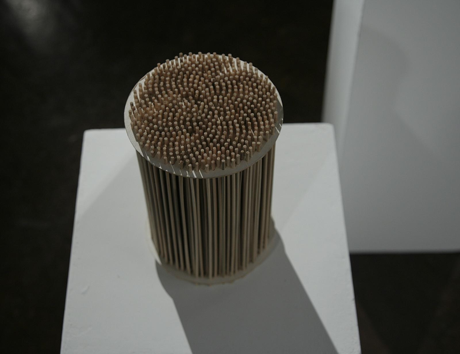 Szymon Kobylarz, 34/55, model, karton, drewno, 2014 - dzięki uprzejmości Galerii ŻAK | BRANICKA