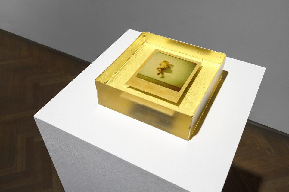 Konrad Kuzyszyn, obiekt fotograficzny, polaroid, żywica epoksydowa, 2010/2012