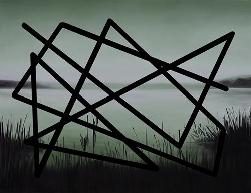 Łukasz Patelczyk, 05:00 am, 2014, olej napłótnie, 128 x 89 cm, zserii Obiekt Niezidentyfikowany