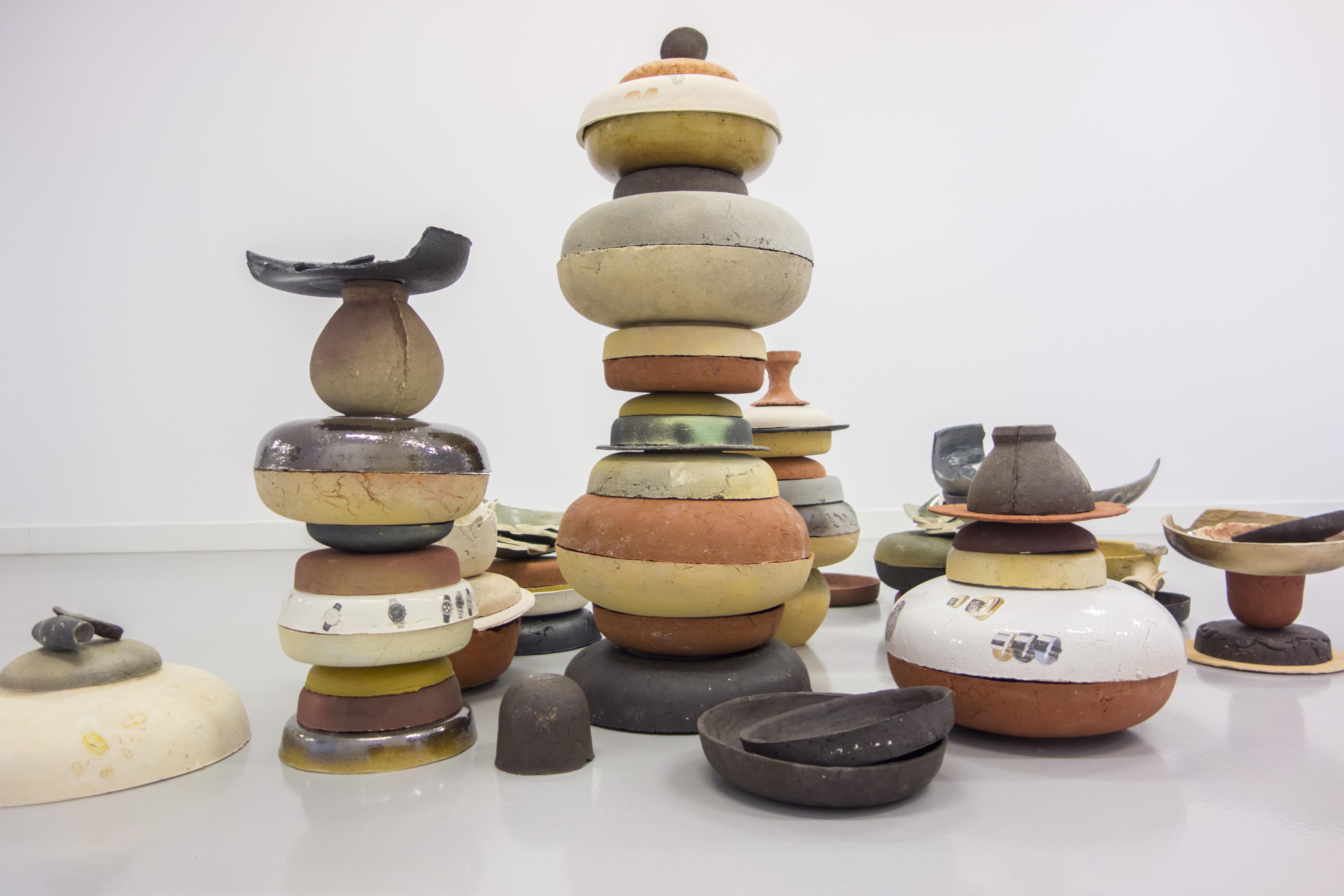 Thomas van Linge, Untitled (Bowls), 2014, wymiary zmienne, detal
