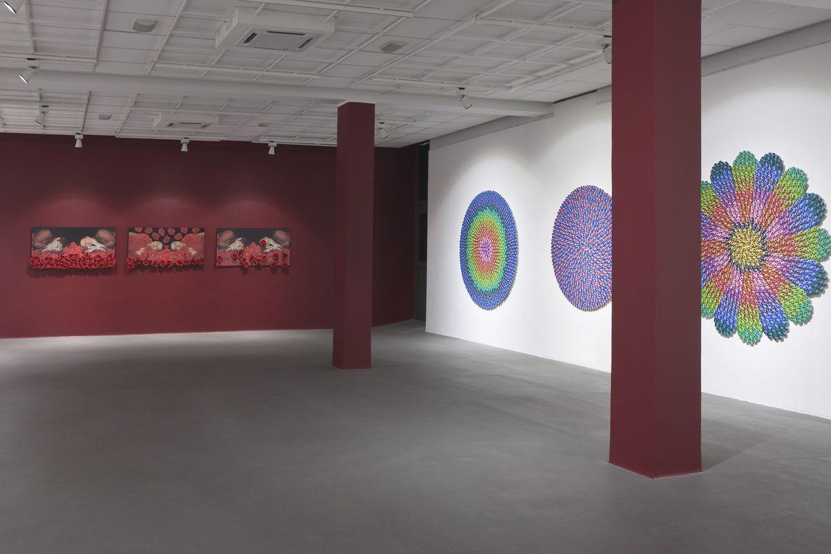 Irena Nawrot, Rosarium, widok wystawy