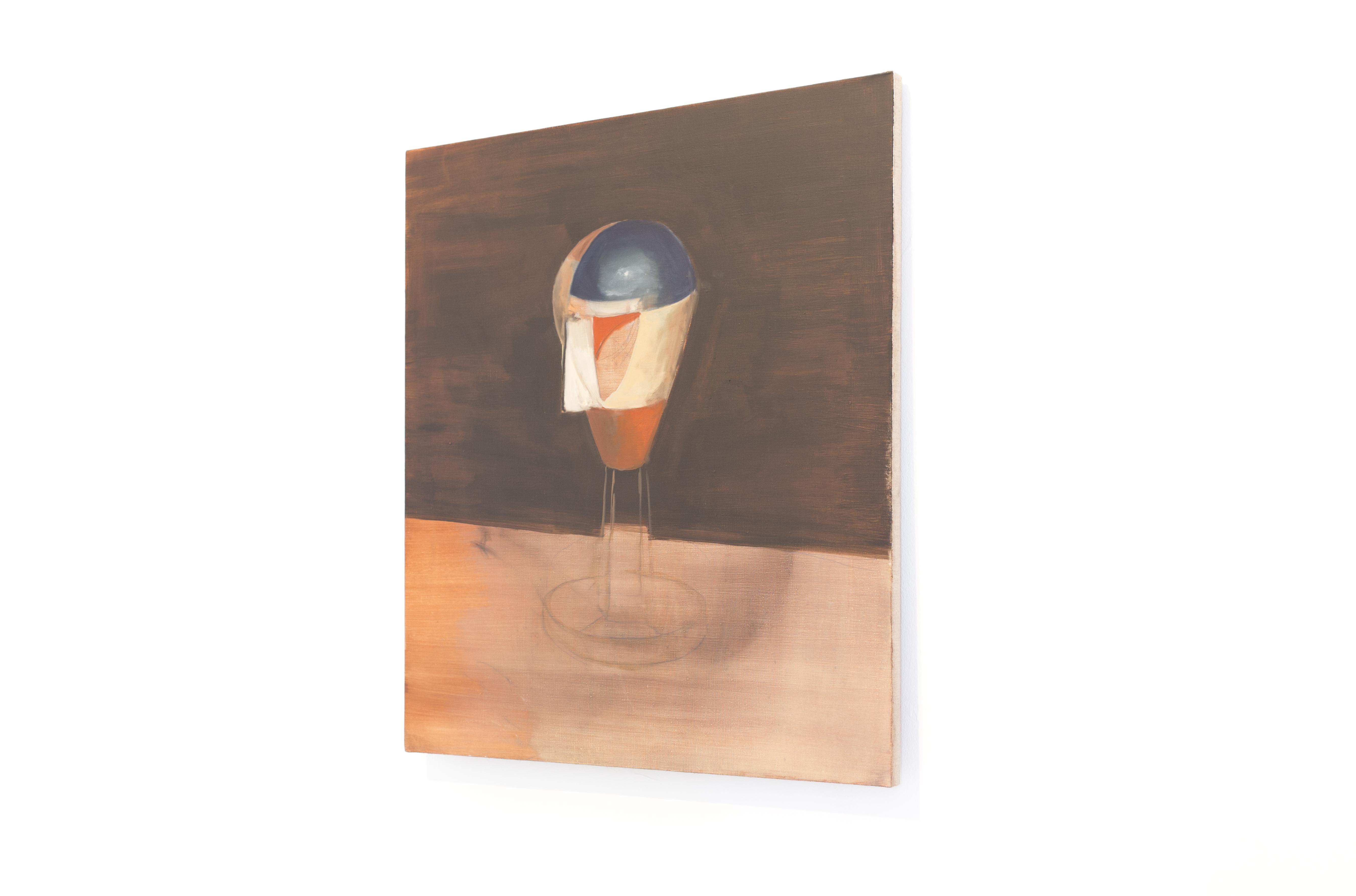 Mikołaj Małek, Portret (Dada Head), 2014, 74 x 65 cm, olej napłótnie