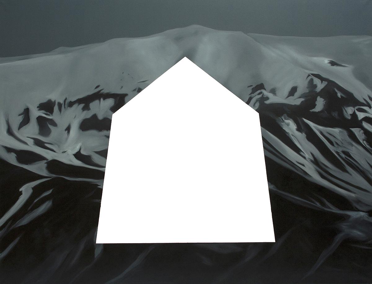 Łukasz Patelczy, Lawina II, 2012, olej napłótnie, 200 x150