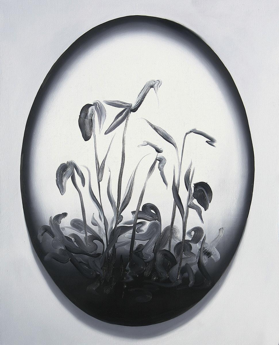 Łukasz Patelczyk, Talerz, 2012, olej napłótnie, 110 x 80cm