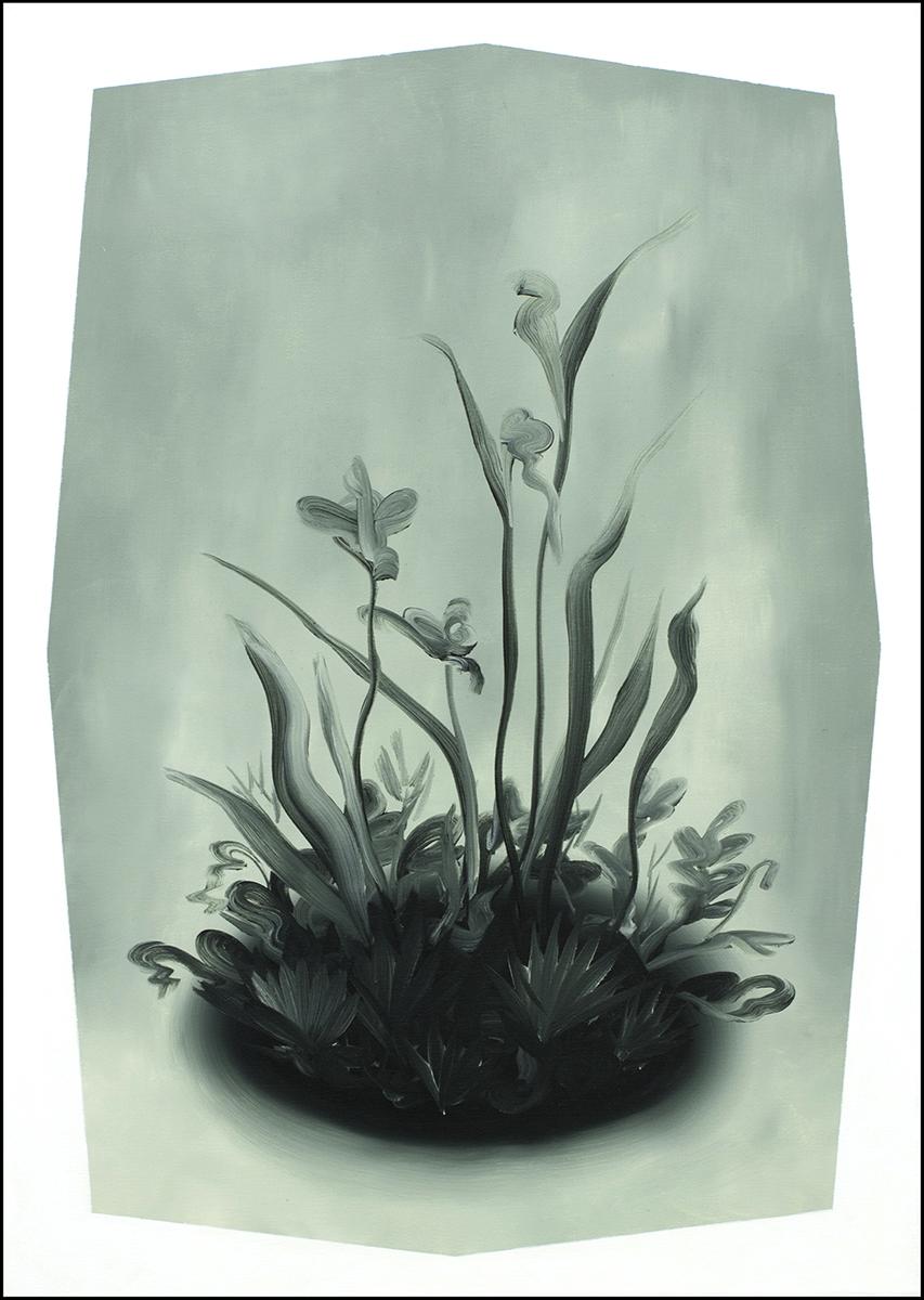 Łukasz Patelczyk, Mgła, 2012, olej napłótnie, 70x50cm