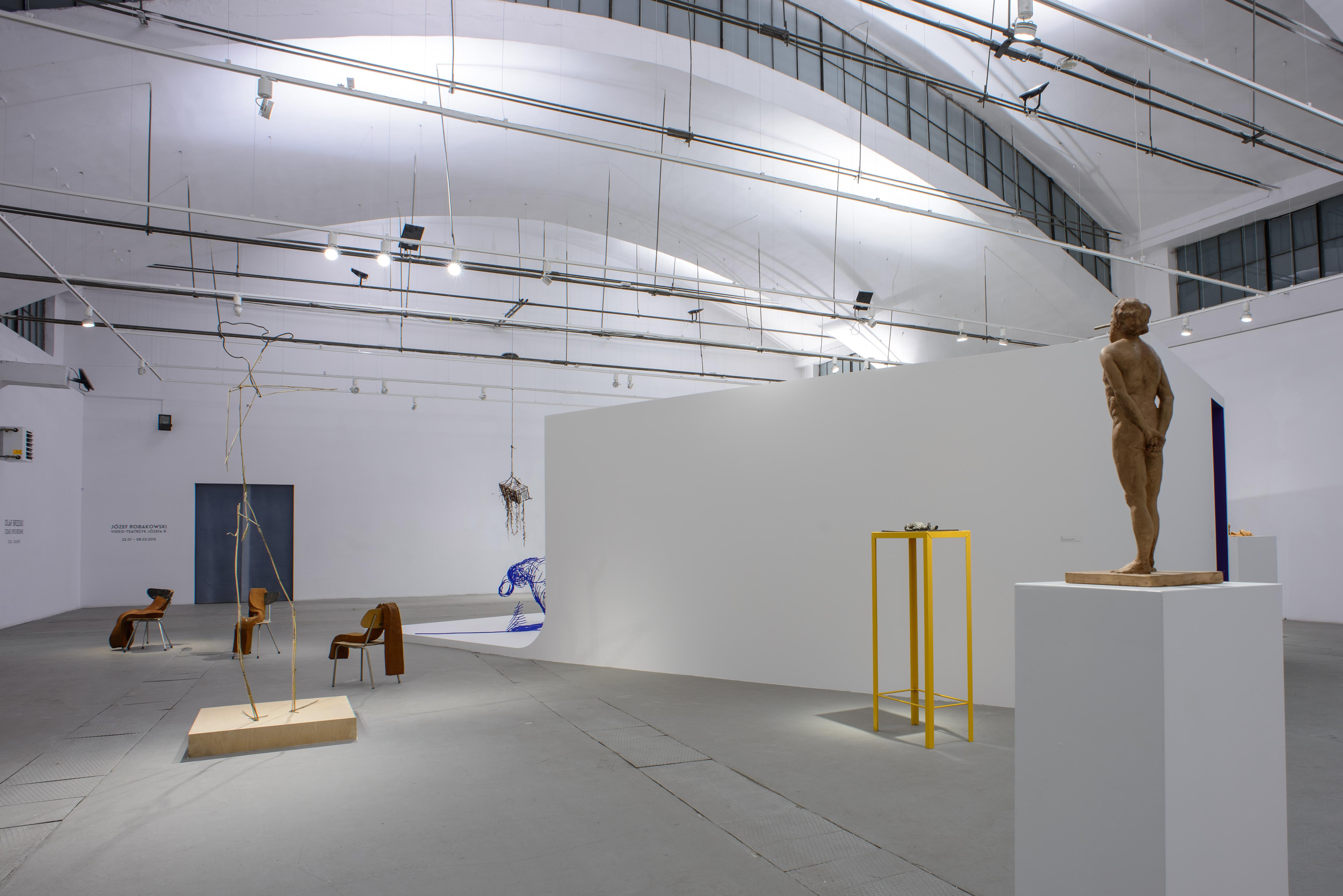 Olaf Brzeski, Czułe spojrzenie, widok wystawy