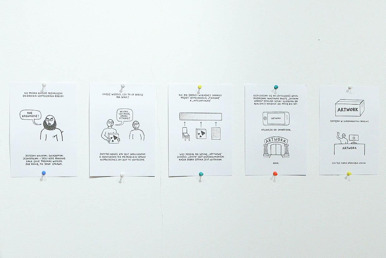 Użyteczność Sztuki. Mini-wykład zainspirowany 'Towards alexicon of usership' (Wstronę leksykonu użytkowania) Stephena Wrighta, (fragment), wykonany dla magazynu humanistycznego Format P / Fundacja Bęc Zmiana, 2014