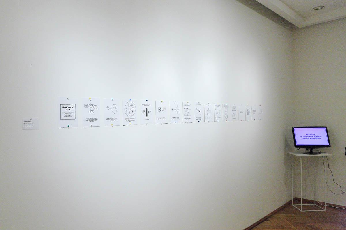 Nie ma czegoś takiego jak sztuka, widok wystawy