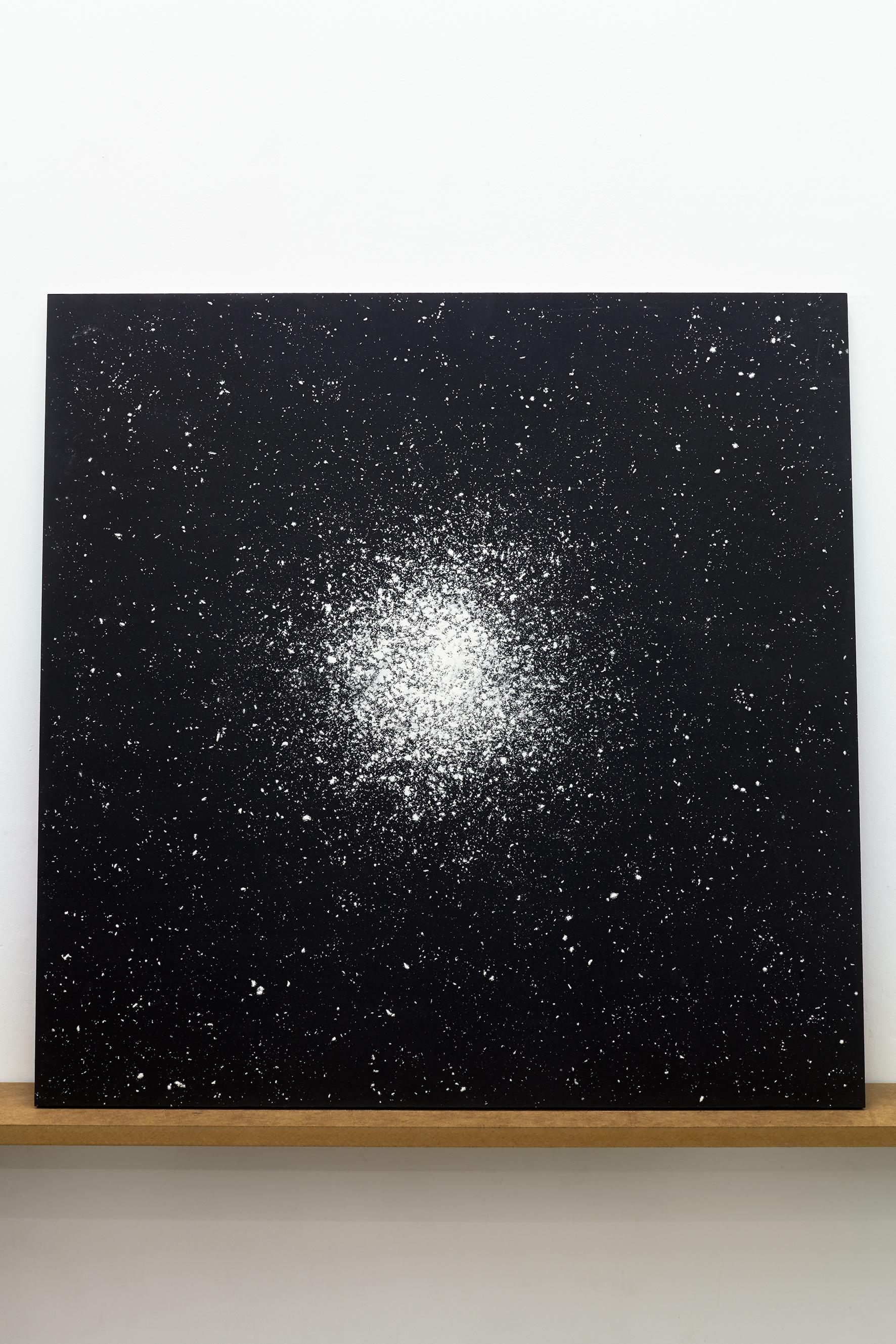 Katarzyna Przezwańska, beztytułu, 72 x 97 cm, akryl, mąka, MDF, 2015
