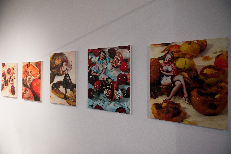 Andrzej Wasilewski, Pin up fruits, akryl/olej, 2008, dzięki uprzejmości artysty