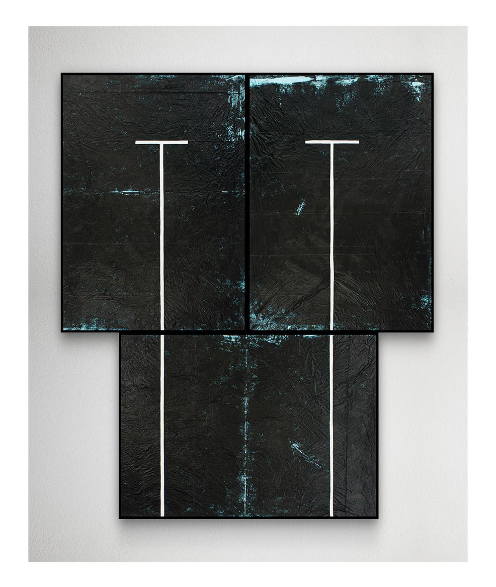 Grzegorz Waliczek, Swimming Pool I, 2014, akryl nafolii, 170 x 100 cm