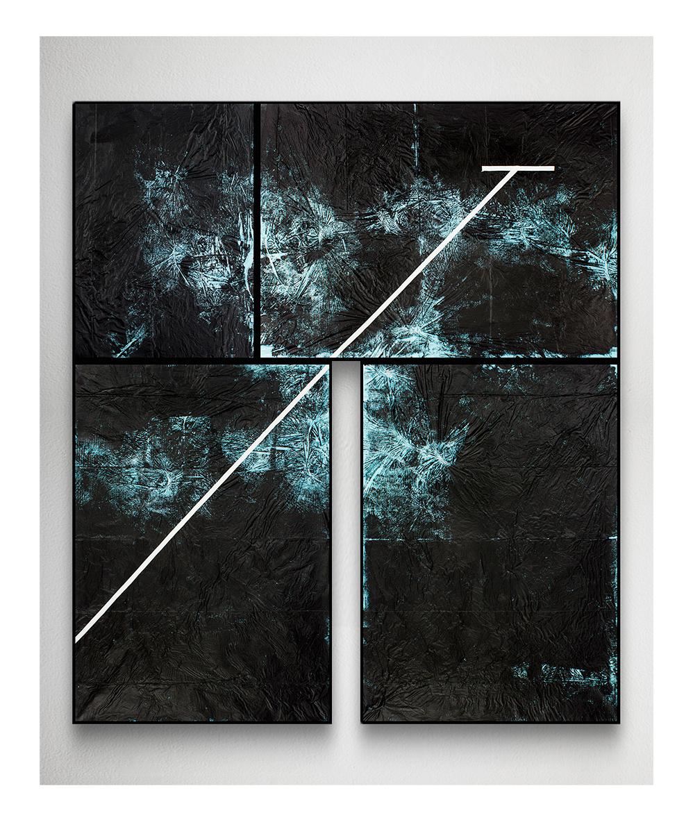 Grzegorz Waliczek, Swimming Pool IV, 2014, akryl nafolii, 170 x 150 cm
