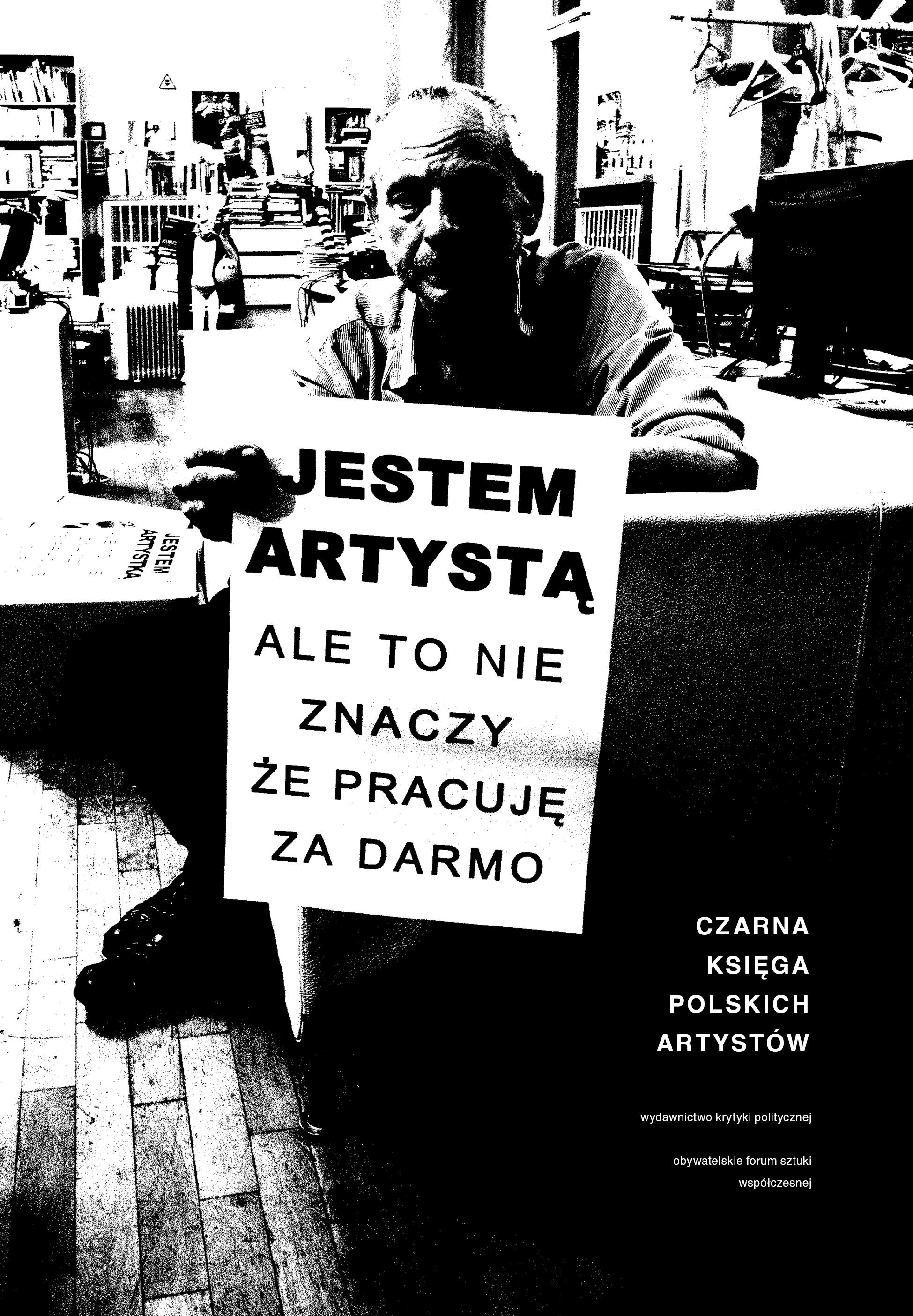 Czarna księga polskich artystów, projekt okładki Katarzyna Błahuta