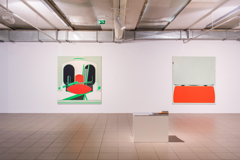 Frank Nitsche, CIC-17-2015 orazBEA-16-2015, 2015, olej napłótnie, wł. artysty orazGaleriiGebr. Lehmann, Drezno-Berlin