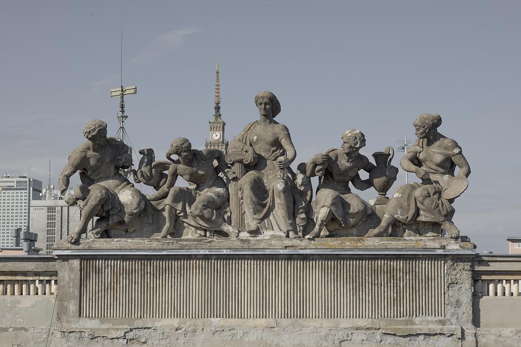 Alegoria sztuk pięknych, ul.Koszykowa 34 50, Kazmierz Bieńkowski, 1952, fot.Szymon Rogiński