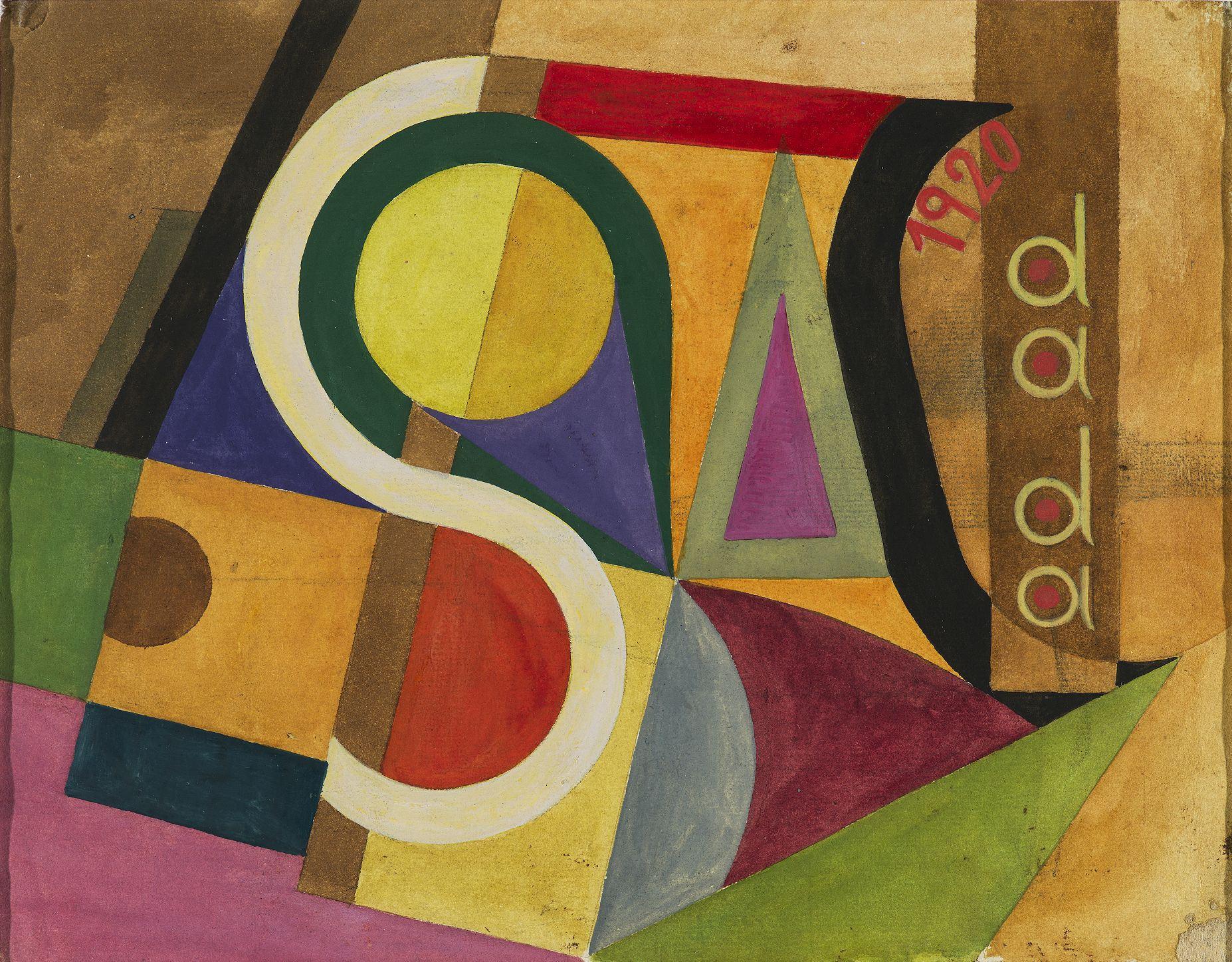 Sophie Taeuber-Arp, Kompozycja dadaistyczna, 1920