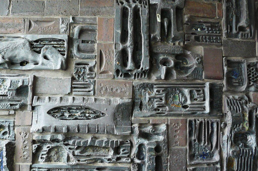 Andrzej Matuszewski, Ceramiczna ściana dekoracyjna wHotelu Mercure Poznań, 1963