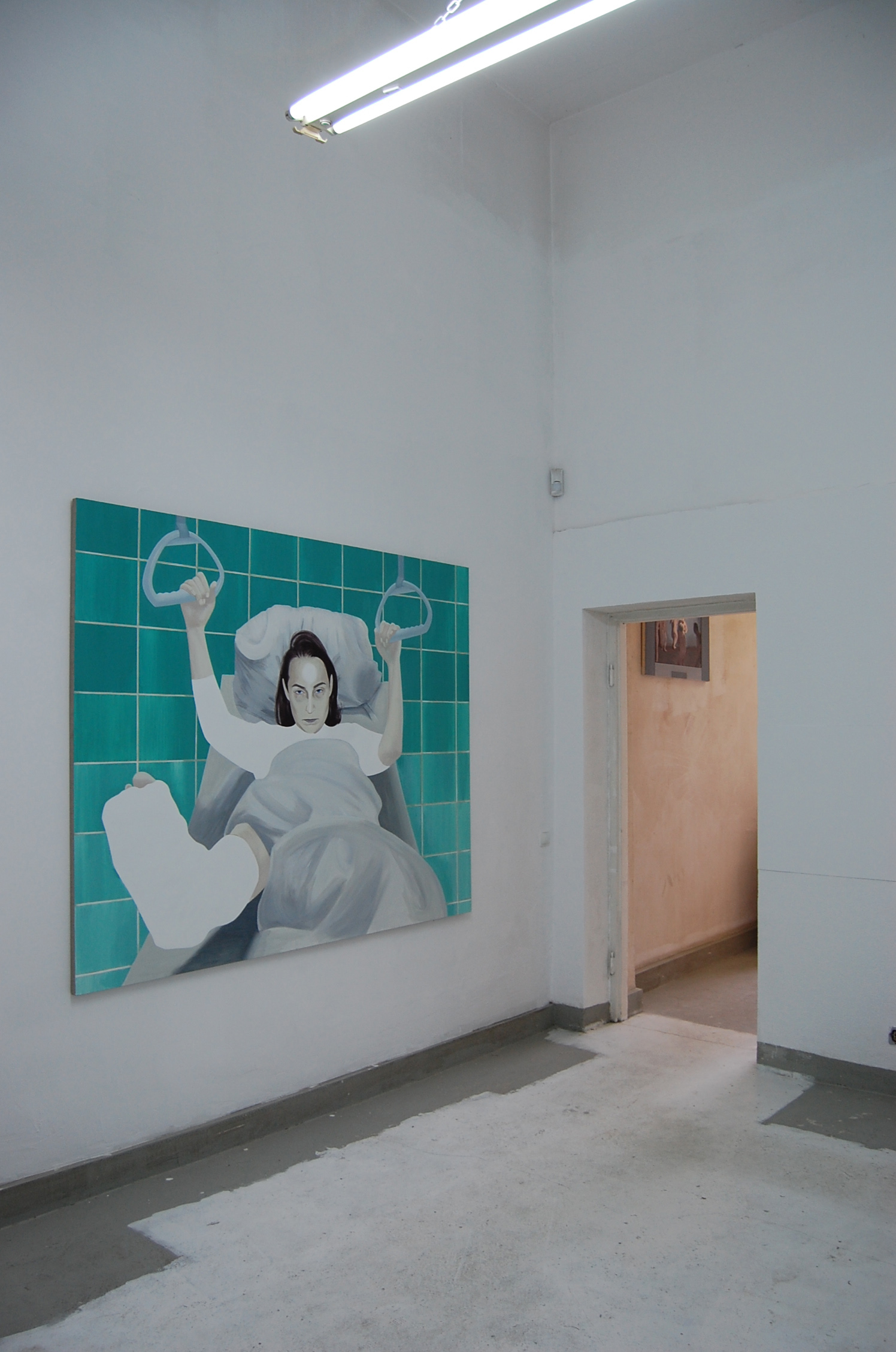 Sala szpitalna, odlewej obraz pt.,,Sztuka złamała mi kręgosłup