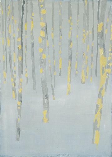 Jan Vanriet, Las bezśladów, 2003, olej napłótnie, 107 x 76 cm